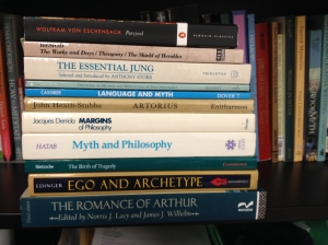 Just a few of the textbooks for my Spring 2015 quarter for the Ph.D. in Mythological Studies with an emphasis in Depth Psychology.