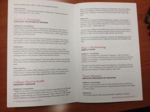 2015 Faculty Accomplishments Booklet (There I am!)