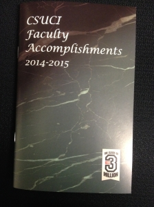 Faculty Accomplishments 2015